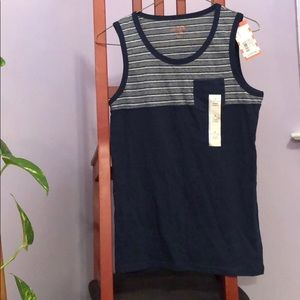 3/$13 Blue and grey tank top